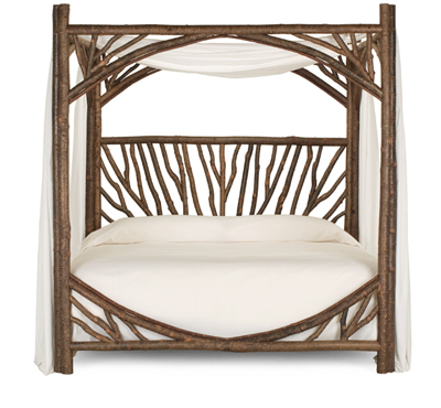 Rustic Canopy Bed # 4282 (King) by La Lune Collection
