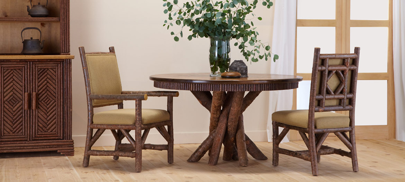 La Lune Collection Dining Table #3091, Arm Chair #1290, Side Chair #1288, Hutch #2042