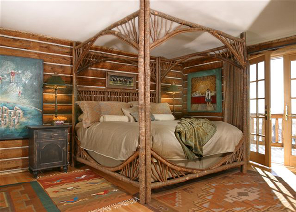 La Lune Canopy Bed #4280 - Laurie Waterhouse Interiors