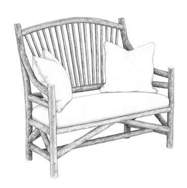 La Lune Collection Original Drawing | Settee #1150