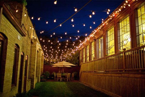 La Lune Collection Courtyard at Night